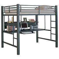 Modern Bunk Bed With Desk Karlstad Modern Loft Bed Desk Eurway Furniture