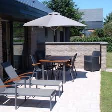 wall mounted patio table umbrosa paraflex wall mounted parasol with hexagonal canvas wall