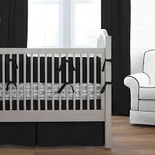 Black And White Crib Bedding For Boys Solid Black Baby Crib Bedding Collection Carousel Designs