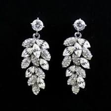 Chandelier Earrings Etsy Bridal Chandelier Earrings Wedding Jewelry Rhinestone Chandelier