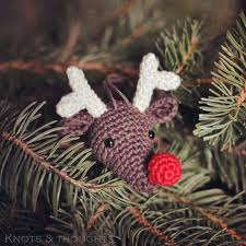 knots and thoughts rudolph the reindeer christmas ornament