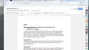 Help Create A Resume How To Make A Resume Online With Google Docs The Tech Factor