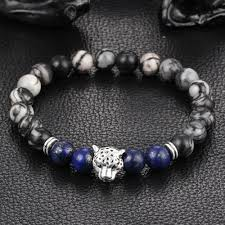 bead bracelet charm images Leopard charm natural stone beads bracelet ancient explorers jpg