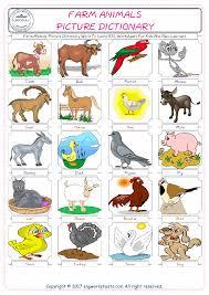 farm animals free esl efl worksheets made by teachers for teachers