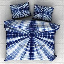 Tie Dye Bed Sets Indigo Tie Dye Bedding Set Shibori Dyed Bedspread With