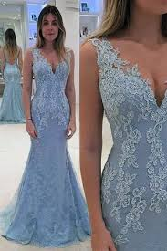 light blue formal dresses open back light blue lace mermaid prom dress evening gown party