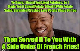 Meme Potato - with cardamom espresso potato cakes for dessert from the