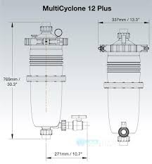 waterco multicyclone centrifugal filter 200376