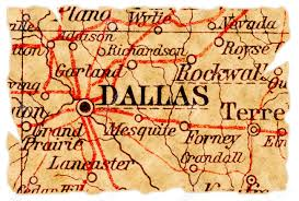 Map Dallas Dallas Texas On An Old Torn Map From 1949 Isolated Part Of