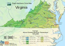 virginia map usda plant hardiness zone map for virginia