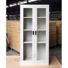 Storage Cabinets Glass Doors Cabinet Metal Storage Cabinet With Doors And Shelves Cabinets