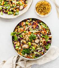 asian chopped salad with sesame ginger dressing
