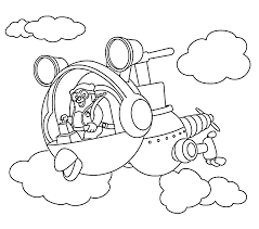 agent oso riding whirly bird coloring pages for kids printable