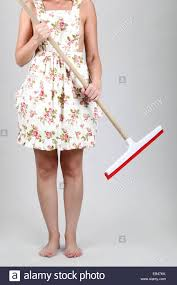 Cleaning The House by Housewife Cleaning The House With A Mop Model Released Stock
