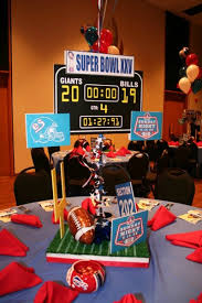 football theme bar mitzvah centerpieces by life o u0027 the party