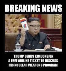 Kim Jong Un Memes - tim young on twitter pretty funny trump sends kim jong un a