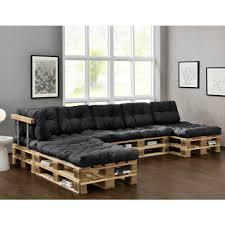 sofa paletten en casa paletten sofa auflage 4x sitz 6x rückenkiss