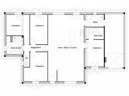plan maison une chambre chambre plan maison plain pied 4 chambres inspiration plan de