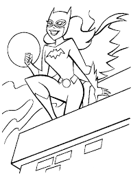 beautiful free printable batgirl coloring pages 19633