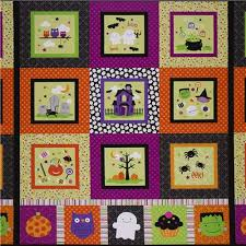 panel fabric by collection trick or treat