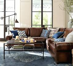 Pottery Barn Leather Couch Stupendous Pottery Barn Leather Sofa For House Design U2013 Gradfly Co