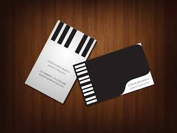 10 music business cards templates free business card
