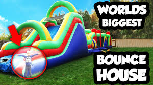 worlds biggest bounce house obstacle course with giant slide