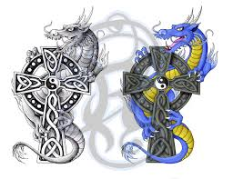 celtic dragon tattoo by ladywildrose on deviantart