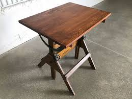 Antique Drafting Table Antique Drafting Table Wood Iron 1920s Vintage Industrial Table