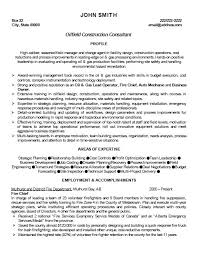Construction Superintendent Resume Examples And Samples by Oil Rig Nurse Cover Letter