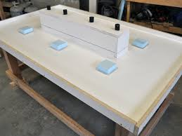 Diy Led Desk L Stunning Led Concrete Patio Table With A Built In Cooler