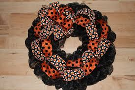 diy mesh waving jack o u0027lantern halloween wreath the wreath depot