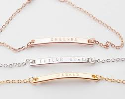 customizable jewelry custom bar bracelet etsy