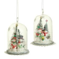 raz claydough snowmen glass dome ornaments