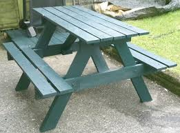 Outdoor Furniture Table by Best 25 Pallet Picnic Tables Ideas On Pinterest Picnic Tables