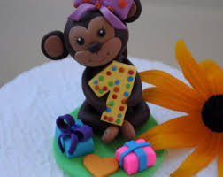 monkey cake topper edible fondant 3d cheeky monkey cake topper kids cake decorations