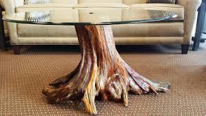 coffee table tree stump living room ideas