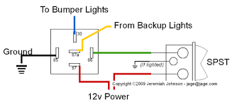 backup lights wiring through relay wiring diagrams schematics