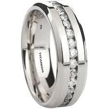 titanium engagement rings mens titanium cubic zirconia wedding ring