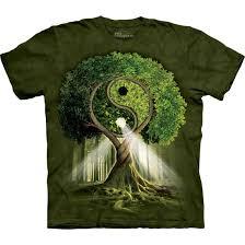 the mountain yin yang tree tie dye t shirt liquid blue