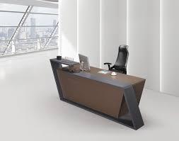 Gray Reception Desk Desk Compact Curved Reception Tera Small W Regarding Popular