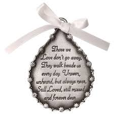 tear shaped pewter finish memorial ornament memorial ornaments