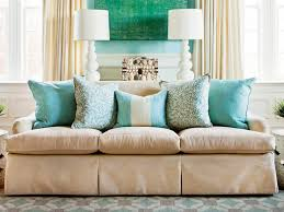 Living Room Sofa Pillows How To Arrange Sofa Pillows Southern Living