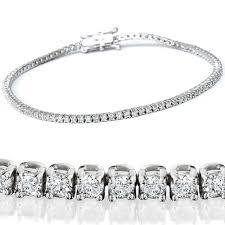 tennis bracelet white images 2 1 2ct genuine diamond tennis bracelet solid 14k white gold 7 quot jpg