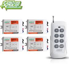 wireless remote control light switch jd211a1n4 4ch 4 way rf learning code digital wireless remote control