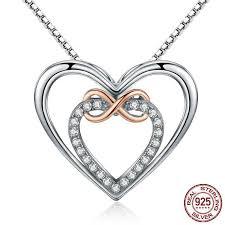 elegant pendant necklace images Elegant infinity love double heart pendant necklace 925 sterling jpg