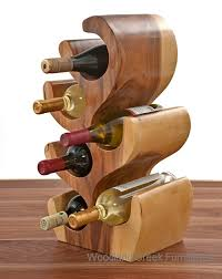 unique wood wine bottle holder wine rack