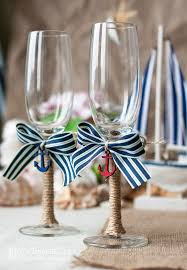 nautical themed weddings amazing wedding glass decoration to toast weddceremony
