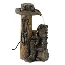 Western Rustic Home Decor Amazon Com Gifts U0026 Decor Wild Western Rustic Cowboy Hat Boot