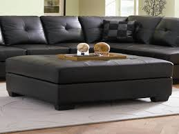 creative of black leather ottoman coffee table storage groovy